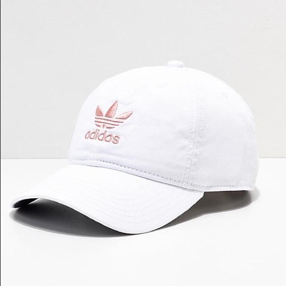 f957432fae7 Adidas originals pink white baseball hat dad cap
